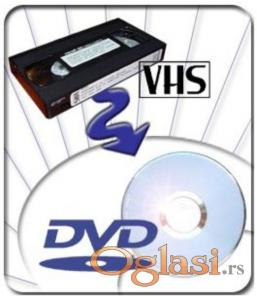 PRESNIMAVANJE VIDEOKASETA BETA VHS VIDEO8