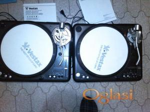 2 x Vestax PDX-3000 MIX DJ TURNTABLE GRAMAFON GRAMOFON