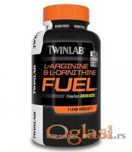 TwinLab L-Arginine and L-Ornithine Fuel, 90 kapsula